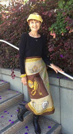 scarf as skirt