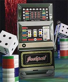 Our cardboard Hit the Jackpot Slot Machine Standee will make a great  decoration for your event! 81acdb0469eb