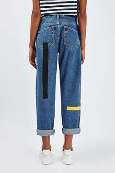Plasterol painted mom jeans. Asos.
