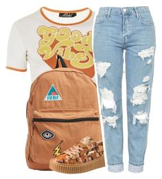"""vintage good vibes 😎"" by fashion123123 ❤ liked on Polyvore featuring Topshop, Billabong, Puma and vintage"