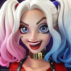 Fan art de Harley Quinn do Suicide Squad - Arte no Papel Online Harley Quinn Drawing, Joker Und Harley Quinn, Cute Backgrounds, Cute Wallpapers, Harely Quinn, Daddys Lil Monster, Gotham Girls, Digital Art Girl, Cartoon Wallpaper