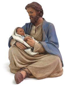 Figures de Pessebre St Joseph Catholic, Catholic Art, Jesus Christ Images, Christian Memes, Religious Education, Blessed Mother, Mother Mary, Saints, St Joseph Pictures