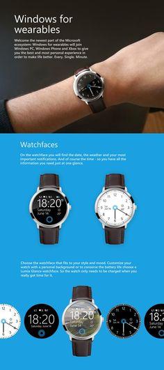 Microsoft Smartwatch Concept Running Windows
