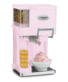 This charming ice cream, yogurt, sorbet and sherbet maker fulfills dessert dreams at home. The darling design gives it an ice cream parlor feel, while the trio of compartments for mix-ins makes it easy to add a variety of delectable toppings to the freshly churned treat.