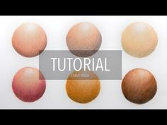How to color, blend different skin tones with colored pencils   blending techniques - YouTube