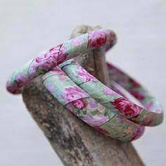 Ribbon-Covered Bangles