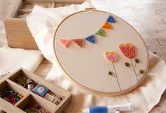 Sweet&Knit: Tutorial Bordado Chino (o Punch Needle) Chinese Embroidery, Embroidery Hoop Art, Needles Play, Knitted Bunnies, Knitting Stiches, Knitting Needles, Punch Needle Patterns, Punch Art, Rug Hooking