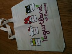Yogurtland Sanrio tote bag