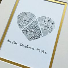 The perfect thoughtful gift or personal memento. This personalized map makes the perfect gift with custom map location, text & quote. Our artwork is created by inlaying your personalized map inside a shape cut from premium cardstock papers. These are so much more than just art prints!!!