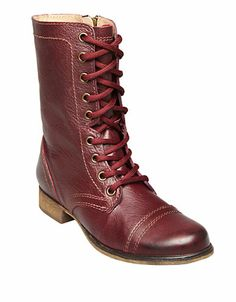 Troopa Lace-Up Boots | Lord and Taylor - good in red, eh?