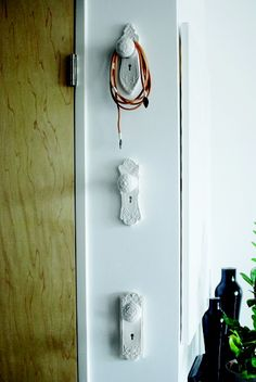 Gorgeous hooks for bags etc. Neat idea!