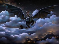 To the stars ~ Hiccup & Toothless #httyd fan art | by Rom-Art @ deviantART