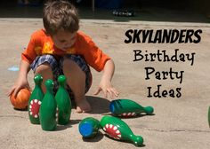 Skylanders Birthday Party: Ideas for food, games, and invitations.