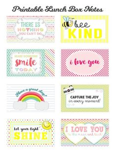 children know that you are thinking of them while they are at school by adding Printable Lunch Box Notes to their bag lunch! Lunchbox Notes For Kids, Kids Lunch For School, School Lunches, Kid Lunches, Kid Snacks, Lunch Snacks, Spa Party, Boite A Lunch, Planner