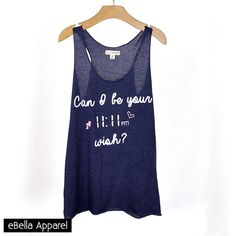 Can I Be Your 11:11 Wish - Women's Navy Tri-Blend, Graphic Print Tank - eBella Apparel, Inc. - 1