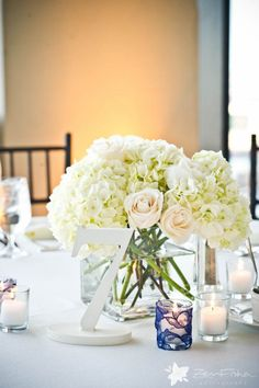 White Weddings - Table Numbers!