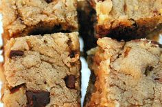 Blondies recipe - Smitten Kitchen - These are so easy to make, it's dangerous - wonderfully, deliciously dangerous.