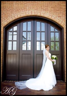 Beautiful big doors, a beautiful bride and a cathedral veil--you can NEVER go wrong! @Katie Jarboe Gerlemann (My sister!!!)