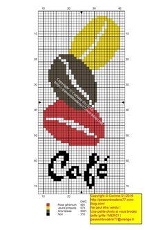 Miniature coffee bean cross stitch chart
