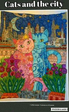 #ArtbyGnoom #GnoomsweetGnoom #Ilovecats #kvv #colouring #sexandthecity