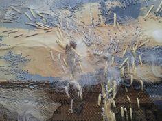 Laura Edgar #textile art # embroidery #collage www.lauraedgar.co.uk