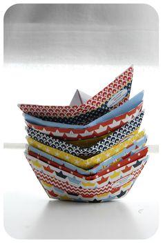 pliage bateau en papier paper boat 6