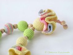 Crochet  Necklace Teether for Moms and Kids / by YourHappyDolls