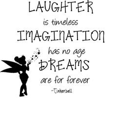 """Tinkerbell Wall Quote - Peter Pan Vinyl Decal / Sticker - 22"""" x 22"""" on ebay"""