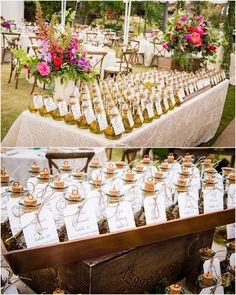 Elegant escort cards and wedding favors tied into one — killing two birds with one stone. photo: Boyd Harris