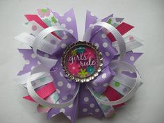 Girls rule bow by AbraBOWdana on Etsy, $7.50