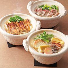鍋焼きうどん、鴨鍋、穴子鍋をセットに。【道頓堀 今井】