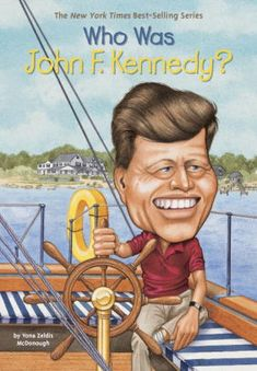 The Hardcover of the Who Was John F. (Turtleback School & Library Binding Edition) by Yona Zeldis McDonough, Jill Weber, Nancy Harrison John F. Kennedy, 2nd Grade Books, Black And White Illustration, Reading Levels, Free Kindle Books, Jfk, Book Series, Nonfiction, New Books