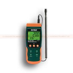 http://handinstrument.se/luftflodesmatare-r615/termo-anemometer-varmtrad-med-sd-logger-53-SDL350-r621  Termo-Anemometer, varmtråd, med SD-logger  Lufthastighet / luftflödesmätare med teleskopgivare utformad för att passa in i HVAC kanaler och andra små öppningar  Teleskopgivaren förlängs upp till maximalt 215cm med kabel  Justerbar dataregistreringsfrekvens  Sparar 99 avläsningar manuellt och 20 miljoner avläsningar via 2G SD-kort  Typ K / J Termoelementingång för höga...