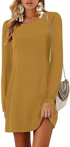 Women mini dress swing tunic is casual basic fashionable vacation style, brilliant suitable for work-out, party, trip, vacation, school, club, cocktail, casual daily wear. YOINS Women Mini Dresses Summer T-Shirt Tunics Self-tie Half Sleeves Solid Crew Neck Blouse Dress Frack, Summer Tshirts, Blouse Dress, Daily Wear, Swing Dress, Half Sleeves, Dress Outfits, Crew Neck, Cold Shoulder Dress