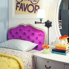 this is such a fun headboard! THis is so Lille