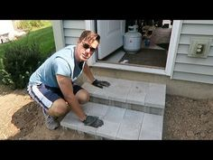 How To Build Cinder Block Steps - YouTube