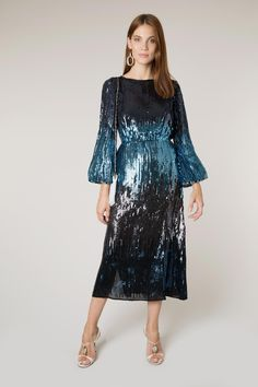 511462348aab Coco - Ombre Sequin ⋆ RIXO dress sleeves New Years Eve Dresses