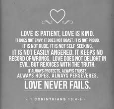 Bible verse about love.