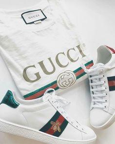 How to get authentic Gucci Ace aus Leder at online store sneakers fashion shoes sport men woman style Gucci AceausLeder 679691768746159533 Sneakers Mode, Sneakers Fashion, Fashion Shoes, Gucci Shoes Sneakers, Fashion Clothes, Girl Fashion, Womens Fashion, Gucci Tshirt, Best Designer Bags