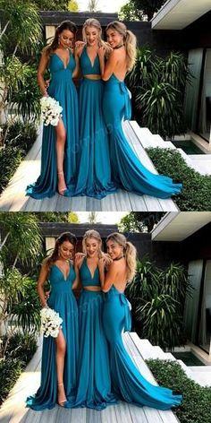 Long bridesmaid dresses, blue bridesmaid dresses, 2018 bridesmaid dresses, wedding party dresses, formal evening dresses - - Source by Bridesmaid Dresses Long Blue, Blue Bridesmaids, Wedding Bridesmaids, Long Dresses, Dresses Dresses, Bridesmaid Outfit, Bride Maid Dresses, Bridesmaid Colours, Fashion Dresses