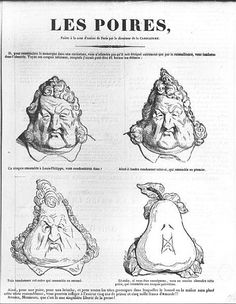 Charles Philipon, Les Poires, Caricatura di re Luigi Filippo, pubblicato su ''Le Charivari'', 1834 ca.