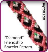 Friendship Bracelet Pattern Diamond Design