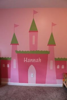 For Lizzieu0027s Wall, With The Spires Having Shelves On Them. Died From  Cuteness. Princess MuralPrincess CastlePrincess ... Part 56