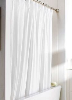 Hotel Weight Shower Curtain Liner White