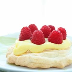 Low Carb Lemon Curd & Berry Pavlovas - also my one year blog-iversary and a Magic Bullet giveaway! #foodgawker
