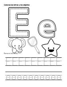 ABECEDARIO PARA COLORERAR -Orientacion Andujar Preschool Writing, Preschool Education, Preschool Learning Activities, Free Preschool, Kids Learning, Alphabet Quilt, Letter Activities, Learning Letters, Preschool Worksheets