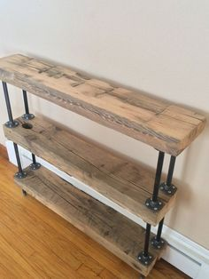 Reclaim Barn beam Industrial shelves / Book by GypsieProjects