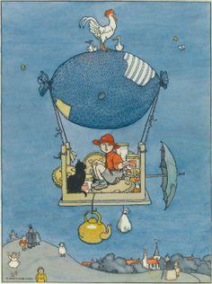 """""""The Air-ship"""" William Heath Robinson. - Sotheby's"""