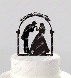 Fairy Tale Prince and Princess Wedding Cake by TrueloveAffair