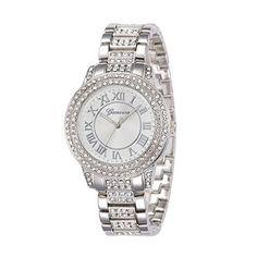 harwish Geneva Damen Kleid Bling Kristall Diamant Armbanduhr Silber - http://uhr.haus/harwish/harwish-geneva-damen-kleid-bling-kristall-silber